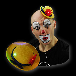 0814-002 LED MINI MELONE CLOWN GELB